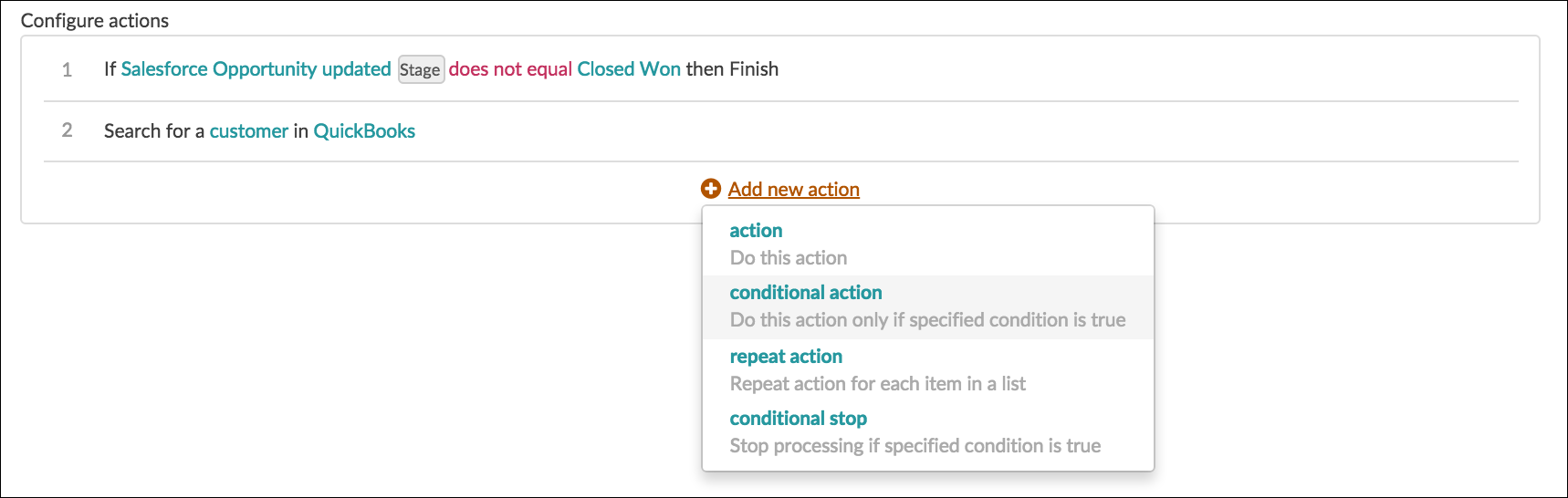 Conditional Action
