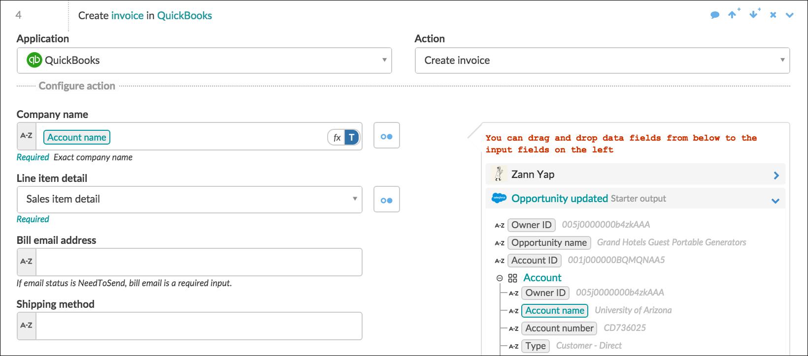 Create invoice-